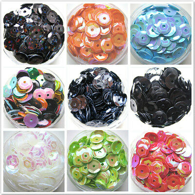 400pcs 6mm Round Shinny Sequins Paillettes Clothes Sewing Wedding DIY Craft
