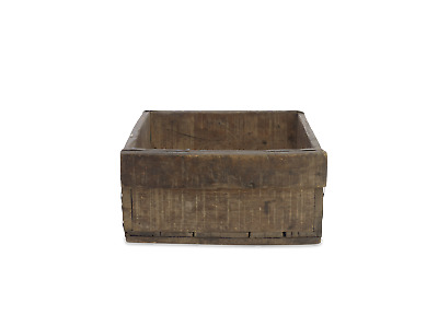 Large Natural Rustic Reclaimed Wooden Storage Box by Nkuku