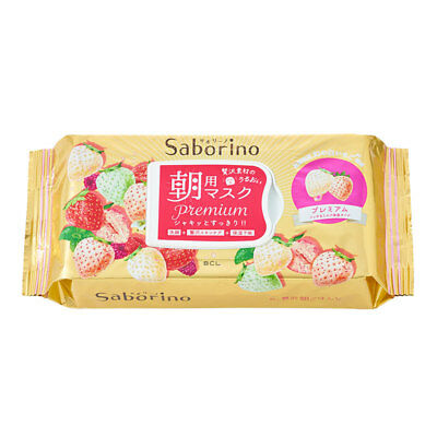 [BCL] Saborino Premium Morning Care 3 in 1 White Strawberry Facial Mask 28pc/1pk