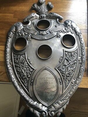 Magnificent Huge Antique Britannia Standard edinburgh silver Shield weighs 1667g