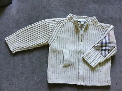 💙 Gilet Cardigan BURBERRY - Taille 12 mois - Authentique - TBE - Superbe 💙