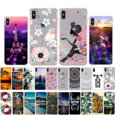 For Apple iPhone XS Max XR 8 7 6 Plus 5 SE Silicone Slim Painted TPU Case Cover