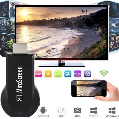 1080p MIRASCREEN WIFI DISPLAY RICEVITORE AV TV DONGLE MIRACAST PER Android IOS N