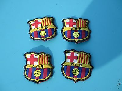 """4  Ecussons/ Patchs      """" Barcelone"""""""
