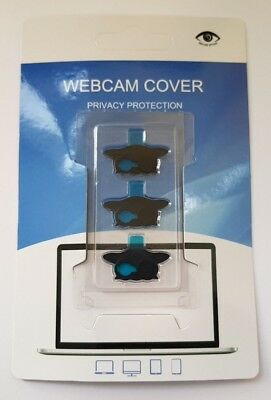 3X Pack Black Owl Webcam Camera Privacy Cover Laptop PC Computer Screen Display