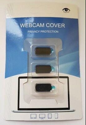 Black Block Webcam Camera Privacy Cover Laptop PC Computer Display Pack of 3X