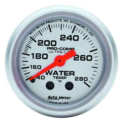 Auto Meter 2-1/16in U/L Water Temp Gauge 140-280