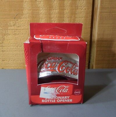 Drink Coca Cola Coke Wall Mount Stationary Bottle Opener Cast Iron New