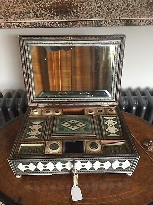 Antique Anglo Indian Inlaid Sadeli Work. Circa 1875 For Restoration  No Reserve