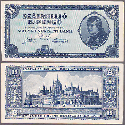 HUNGARY 100 Million B.-Pengo 1946 P-136