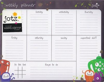 NEW Lovely Weekly Planner Things To Do Desk Memo Mouse Pad Stationery Paper AU