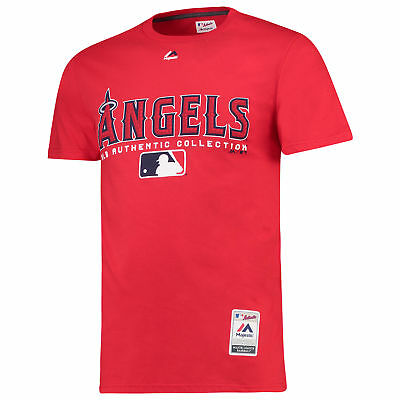 MLB Los Angeles Angels of Anaheim Majestic Collezione Team Drive T-Shirt Uomo