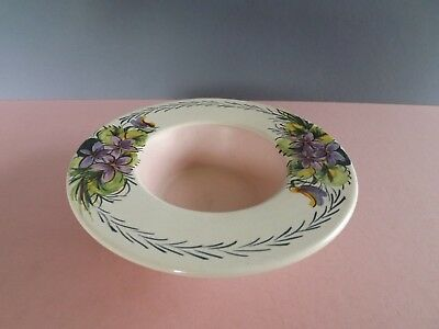 Vintage Axe Vale Pottery Hand Painted Candle Holder