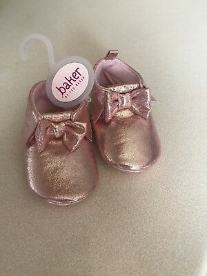 09fe5f9d8 Ted Baker Baby Girl Shoes 6-9 Months Glittery Rose Gold