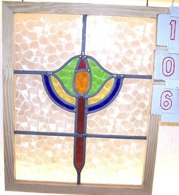 English stained glass window
