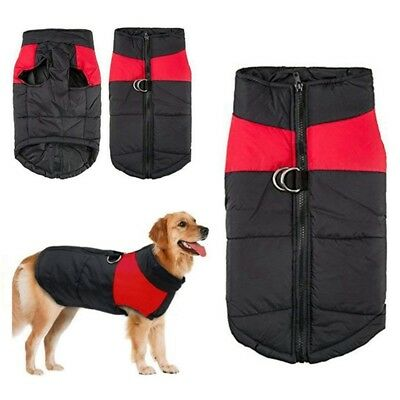 Dog Winter Coats Waterproof Warm Padded Jacket Clothes For Small / Large Pet UK