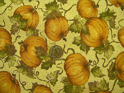 1 yards Longaberger Patch Pumpkin Fabric 36 x 65 - Retired