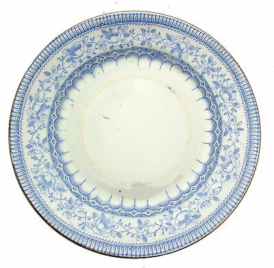 c1920 Sutherland Hudson Art China 1003 Blue White Transfer 6.25 Inch Plate