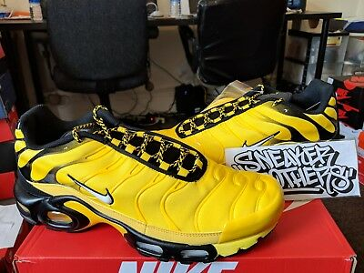 new style 2baeb 9e504 Nike Air Max Plus TN Tuned Frequency Pack Tour Yellow Black White Men  AV7940-700