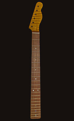 Zoundhouse Highly Flamed Maple Neck TE-Style, Pau Ferro, 21 MJ Frets, B-Stock