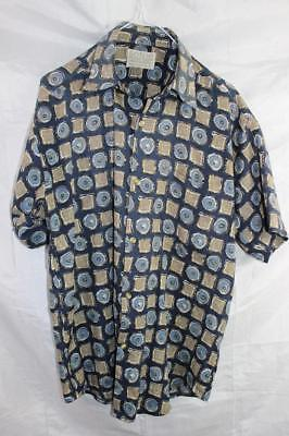Vintage 80s Sonic Punk New Wave SURF ELECTRO BUTTON UP SHIRT Indie Grunge Retro