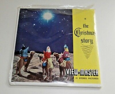 The Christmas Story Viewmaster Reels Set B383 Vintage 1958 Rare Complete    C051