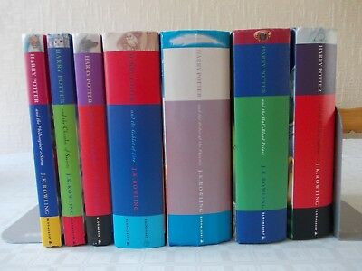 Full complete set First Edition Harry Potter hardback books Bloomsbury Rowling