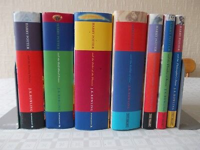 Full complete set Harry Potter hardback books with dust jackets J K Rowling