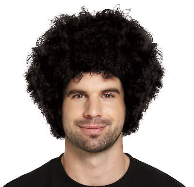 Black Afro Wig - Disco Funny Funky Fancy Dress Party Curly Hippie Clown
