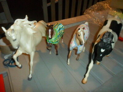 Assorted Breyer Horses Signed  Andalusian Stallion , Pinto Hanoverian, foal