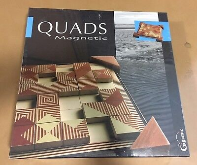 New QUADS Magnetic Tile Board Game - Fundex Gigamic Mensa Ages 8+