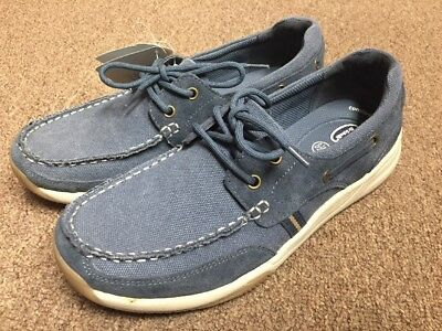 a643569ca2a2 NEW Dr. Scholls Men s Blue Canvas Boat Shoes Loafers Size 8.5 WITH TAGS