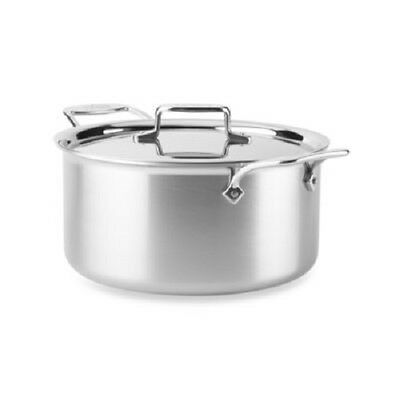 All-Clad D55508NS  D5 Polished Non-Stick  5-Ply Dishwasher Safe 8-qt Stock Pot