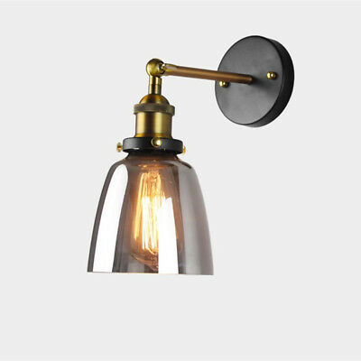 Swing Arm Wall Lamp Indoor Wall Lights Kitchen Lamp Home Grey Glass Wall Sconce