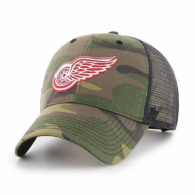 8355493f48c2f NHL Detroit Red Wings Camo Branson 47 Brand Trucker Cap Hat Headwear Mens