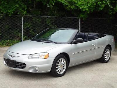 2002 Chrysler Sebring Limited CONVERTIBLE 2DR COUPE! SERVICED! 56K Mls! LOW MILES LEATHER CD-CHANGER COLD AC HOME LINK 2 KEYS KEYLESS ENTRY RUNS GREAT