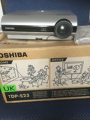 Toshiba projector   TDP S25 Home/ Office projector. PC, video. games etc