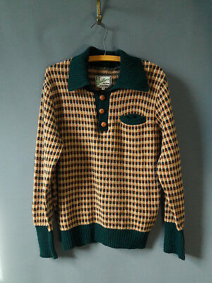levi's 1940s 1947 reissue lvc wool sweater, wool and leather 1930s style also