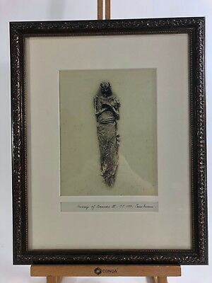 Mummy of Rameses II – Stunning Large Format Original Albumen Photo Ca. 1860s