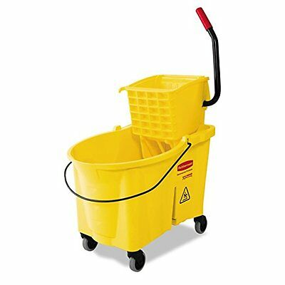 Rubbermaid Commercial RCP618688YW Yellow WaveBrake 44-Quart Bucket/Sideward