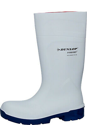 Dunlop CA61131 FoodPro Purofort MultiGrip Safety Wellingtons White Size 3-14