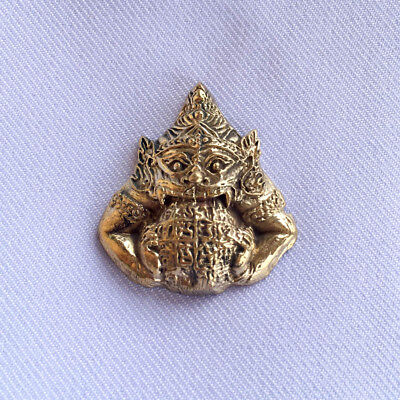 Phra RAHU Om Chan Thai Buddha Amulet Lucky Protect Magic Powerful10