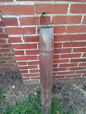 Vintage Galvanized Metal Water Well Draw Pail Bucket Rustic Rusty Farmhouse barn