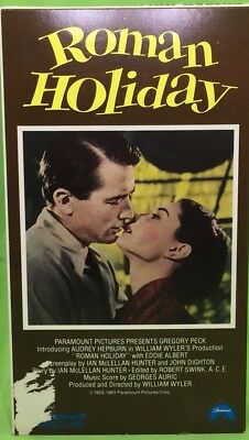 ROMAN HOLIDAY VHS 1953 Audrey Hepburn Gregory Peck Early Paramount Video Release