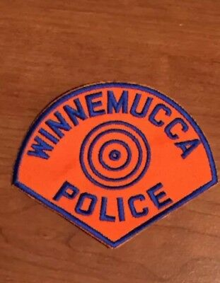 Defunct City of Winnemucca Nevada Old Style Police Department Patch