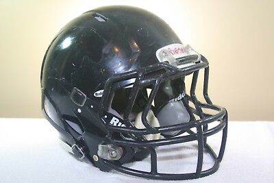 Riddell Youth SPEED Game Used Worn Football Helmet Black Small 2012 53 EXTRAS