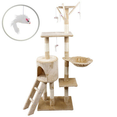 Cat Tree Scratching Climbing Activity Centre Sisal Bed Toys Scratcher Tower UKDC