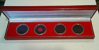 Display Case for 4 x Coin Maundy Money Set  including Ring Type Coin Capsules