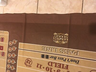 Golden Nugget Hotel Casino Lv Craps Taple Layout Golden Nugget Brown Dice Layout