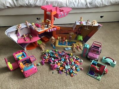 Polly Pocket CRUISE SHIP PLAYSET Toy Bundle Job Lot Clothing & Accessories FAB